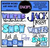Winter Word Art Mini Clip Art Bundle