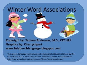 Winter Word Associations