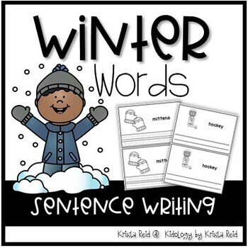 Winter Word Books - Literacy Activity and Center