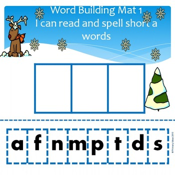 Winter Word Building and Word Family Mats