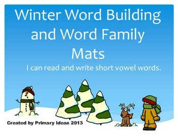 Winter Word Building and Word Family Mats Sample