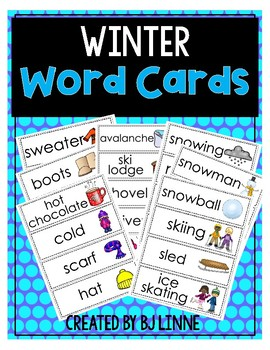 Winter Word Cards