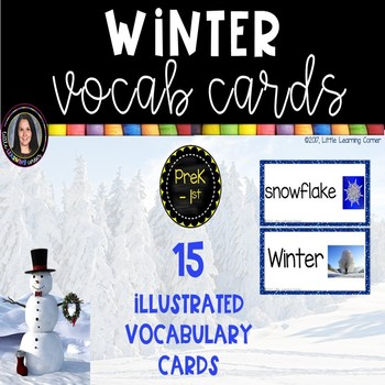 Winter Vocabulary Word Cards ~ Polka Dots ~
