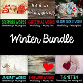 Winter Word Cards and Word Walls {in English and Spanish}