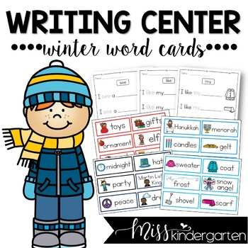 Writing Center Winter Word Cards