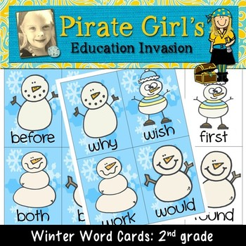 Winter Word Cards (dolch 2nd  grade)