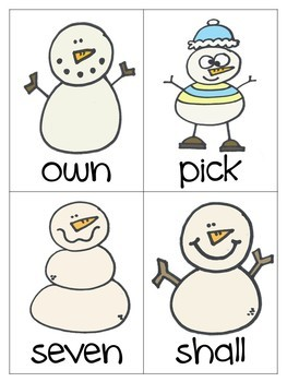 Winter Word Cards (dolch 3rd grade)