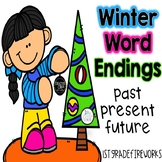 Winter Word Endings |  Past, Present, & Future
