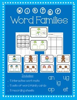 Winter Word Families (CVC Words)