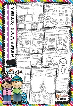 Winter Word Families Pack