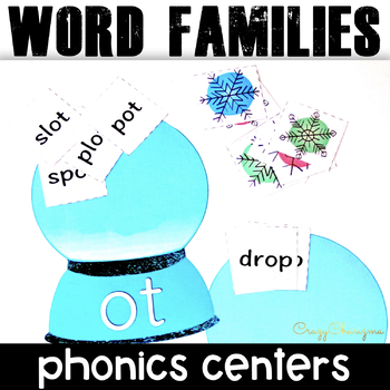 Phonics Centers (Winter Word Family Activities for Beginning Readers)