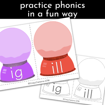 Word Families Activities: Snow Globes E