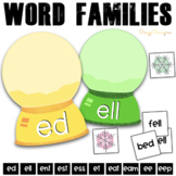 Winter Phonics Activities: short / long E words {Snow Globes}