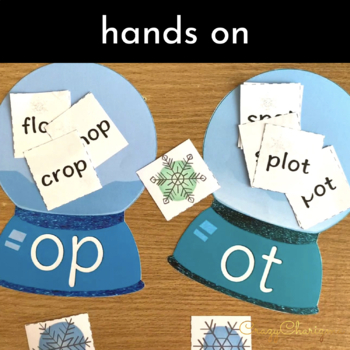 Word Families Activities: Snow Globes I