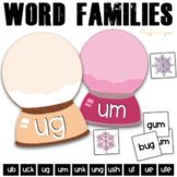 Winter Phonics Activities: short / long U words {Snow Globes}