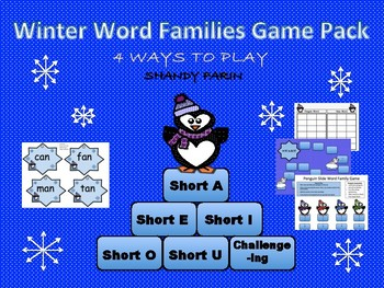 Winter Word Family Game