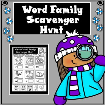 Winter Word Family Scavenger Hunt