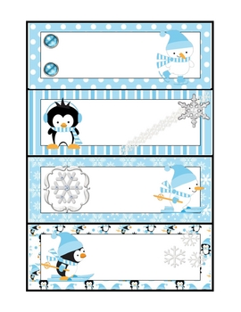 Winter Word Family Sorting Cards:  Long Vowels, Silent E