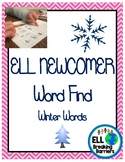 Winter Word Find: ELL