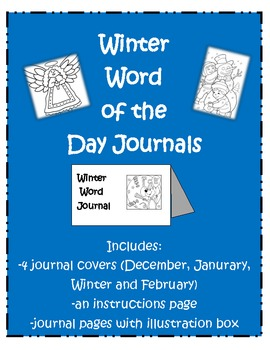 Winter Word Journals (4 covers) 10 pages