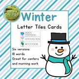 Winter Word Letter Tiles Cards