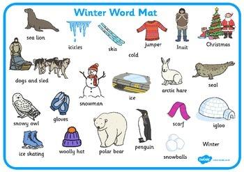 Winter Word Mat