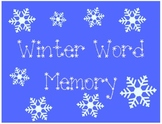 Winter Word Memory