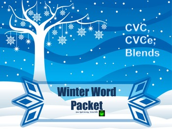 Winter Word Pack cvc, cvce, and blends
