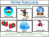 Winter Word Picture Flashcards, High Frequency Word Cards