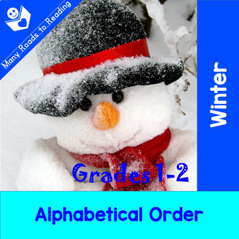 Winter Parts of Speech, Syllables, ABC Order, Making Words BUNDLE