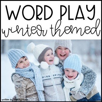 Winter Word Play (Editable PDF)