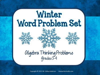 Winter Word Problem Task Card Bundle-Grades 3-4