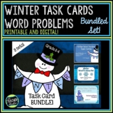 Winter Word Problem Task Card Bundle for Grades 3-4
