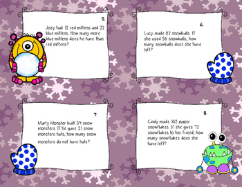 Winter Word Problem Task Cards (2nd grade)