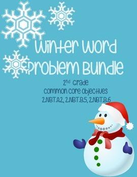 Winter Word Problems- 2nd Grade