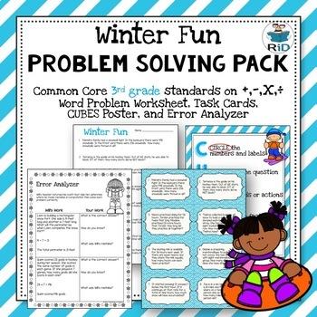 Multiplication Word Problems 3rd Grade Worksheet Teaching Resources ...