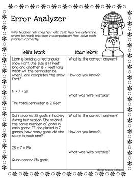 Winter Word Problems: 3rd Grade