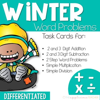 Winter Word Problems- Addition, Subtraction, Multiplication, and Division