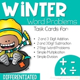 Differentiated Word Problem Task Cards: Add, Sub, Divide,