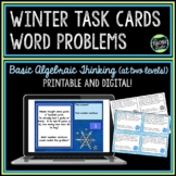 Winter Word Problems Algebra Thinking