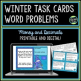Winter Word Problems Decimals and Money