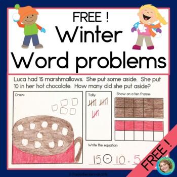 Winter Word Problems FREEBIE!