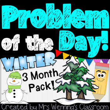 Winter Word Problems & Math Interactive Notebook Activities Pack!