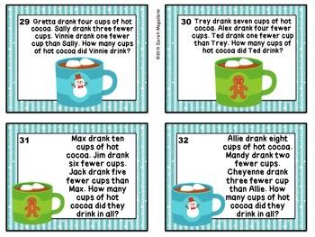 Winter Word Problem Math Task Cards