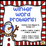 Winter Word Problems - Review those Common Core Math Skills - Grades 2-3