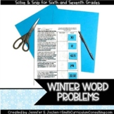 Winter Math Activity | Solve and Snip® | Math Stations| Ma