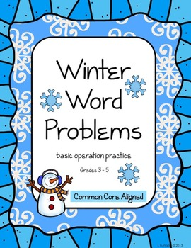 Winter Word Problems - basic operation grades 3 - 4