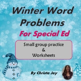 Winter Word Problems for Special Education