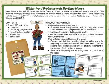 MATH WORD PROBLEMS: Story Problems, Winter Math, Math Journals