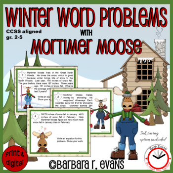 WINTER WORD PROBLEMS with Mortimer Moose